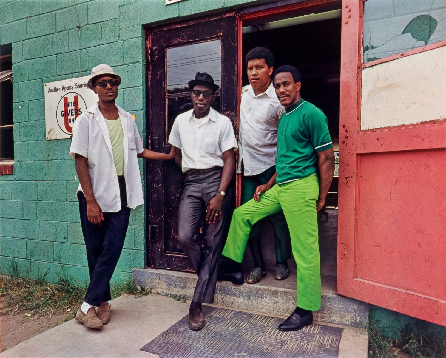 Four Young Men, Washington D.C. 1975, Color Photography by Evelyn Hofer