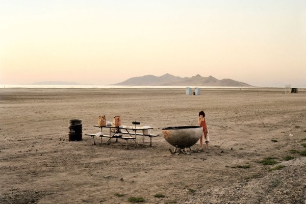Great Salt lake, Utah, August 1979 Color Photography by Joel Sternfeld
