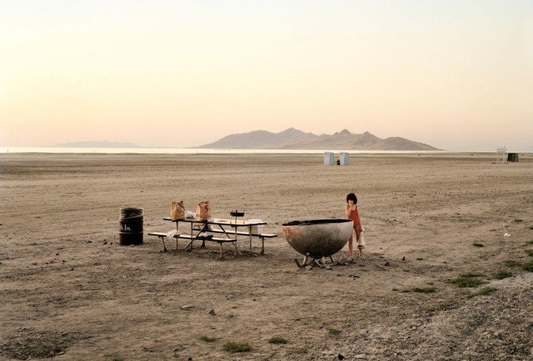 Great Salt Lake, Utah, août 1979 Photographie couleur par Joel Sternfeld