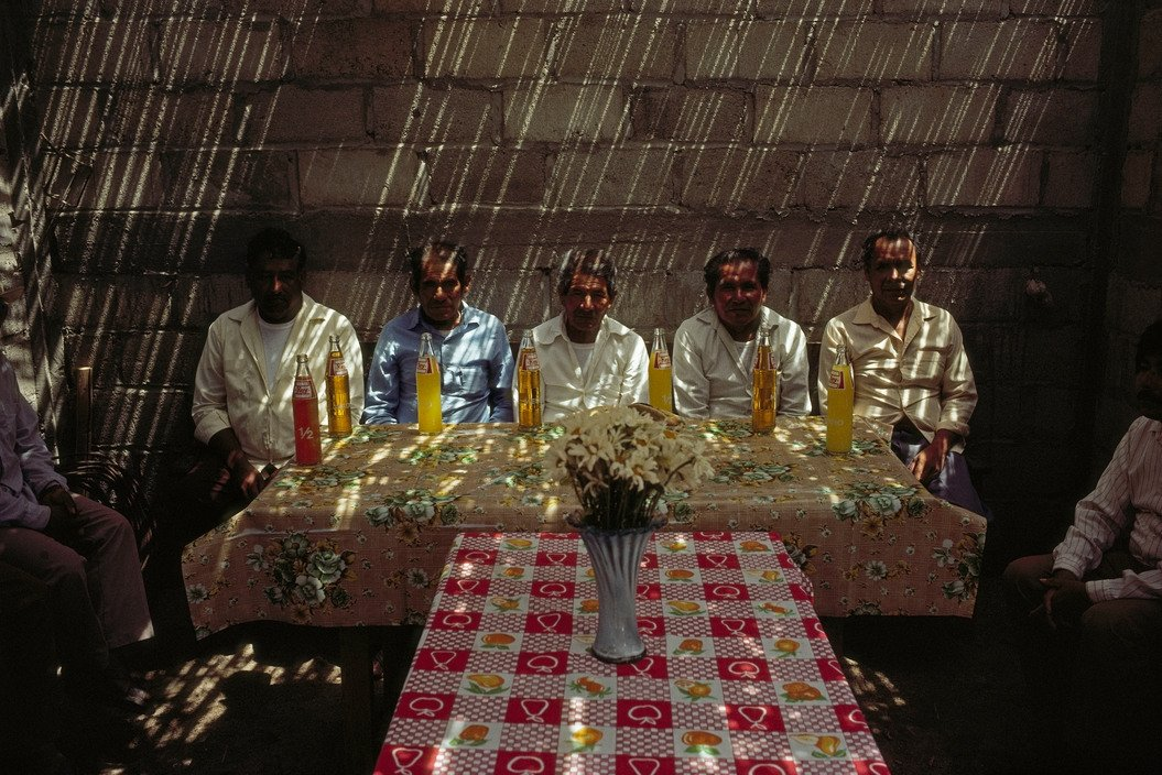 MEXICO. Oaxaca. 1992. Community leaders meet to discuss problems © David Alan Harvey