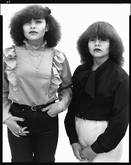 Myrna Sandoval and her sister Claudia, El Paso, Texas, April 20, 1982 From the American West