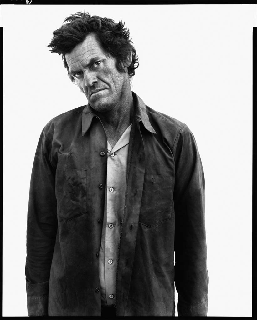 James Kimberlin, drifter, State Road 18, Hobbs, New Mexico, October 7, 1980 - Portrait photography by Richard Avedon in the American West