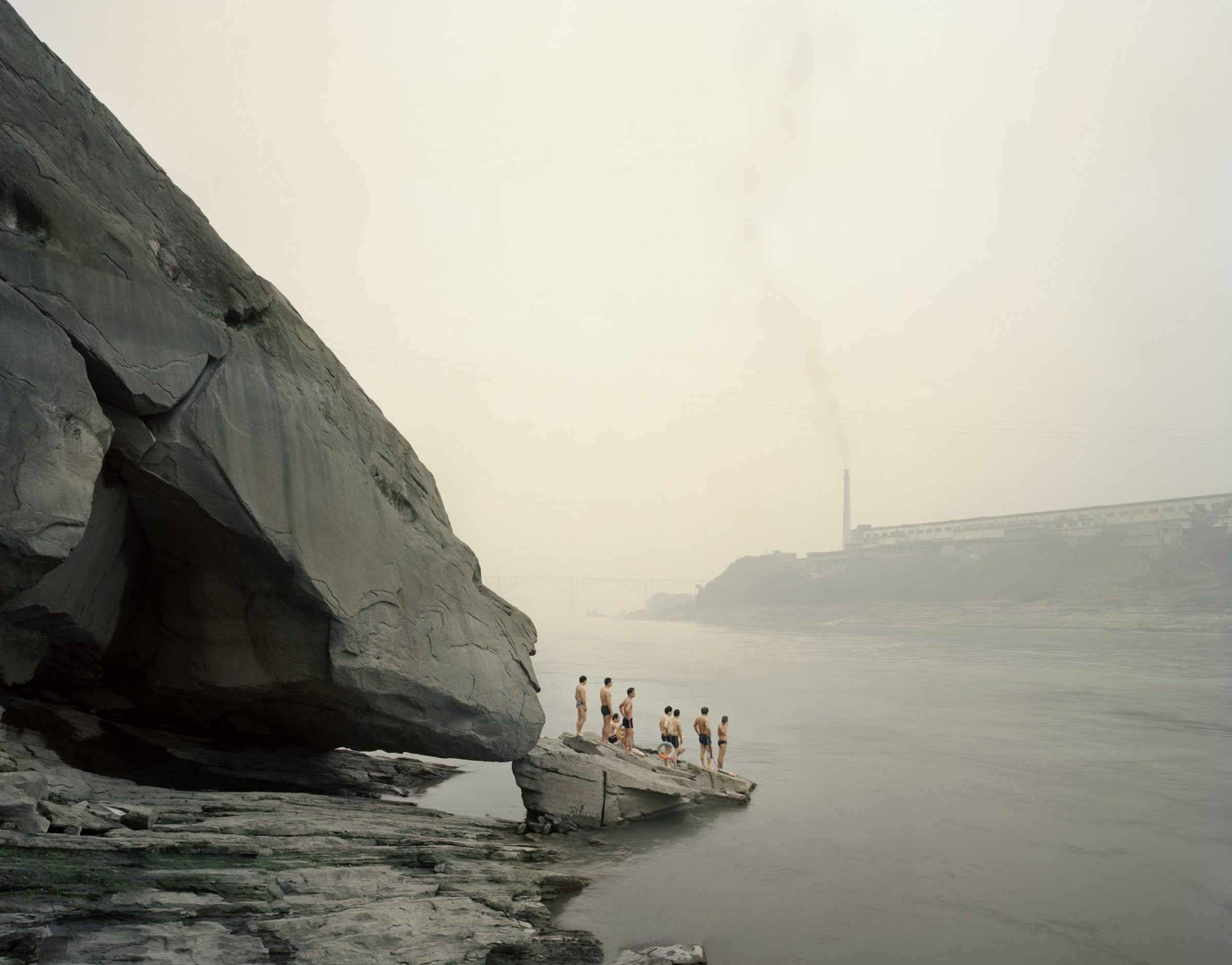 Yibin I (Bathers), Sichuan Province, 2007 - From Yangtze, The Long River photograph by Nadav Kander