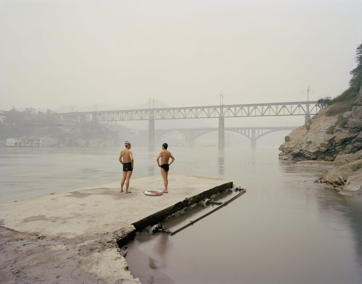 Yibin VIII (Bathers), Sichuan Province, 2007 - From Yangtze, The Long River photograph by Nadav Kander