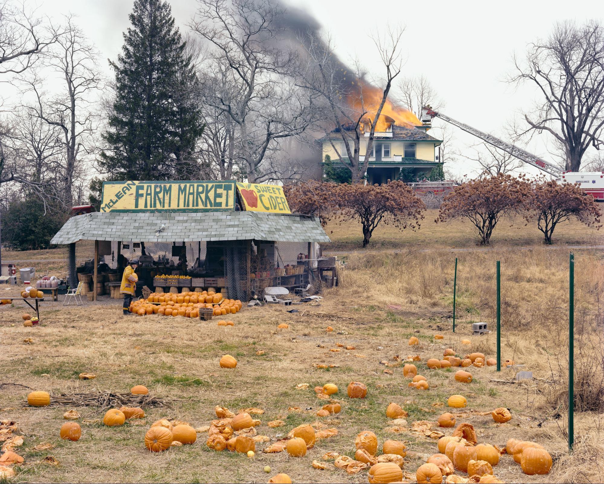 Farbfotografie, Mclean, Virginia, Dezember 1978 - Aus amerikanischen Perspektiven © Joel Sternfield