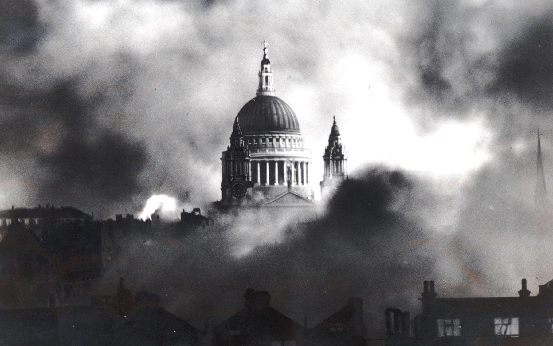 Herbert Mason - London Blitz, St Pauls, 1940