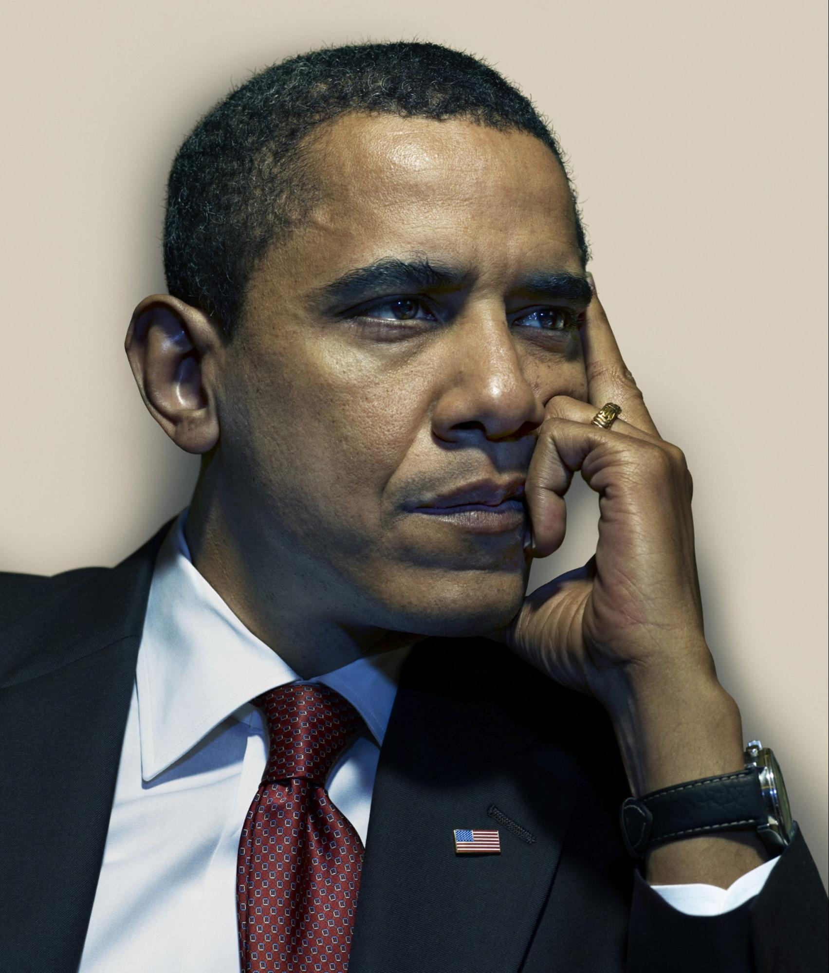 Barack Obama, 2009 photograph by Nadav Kander