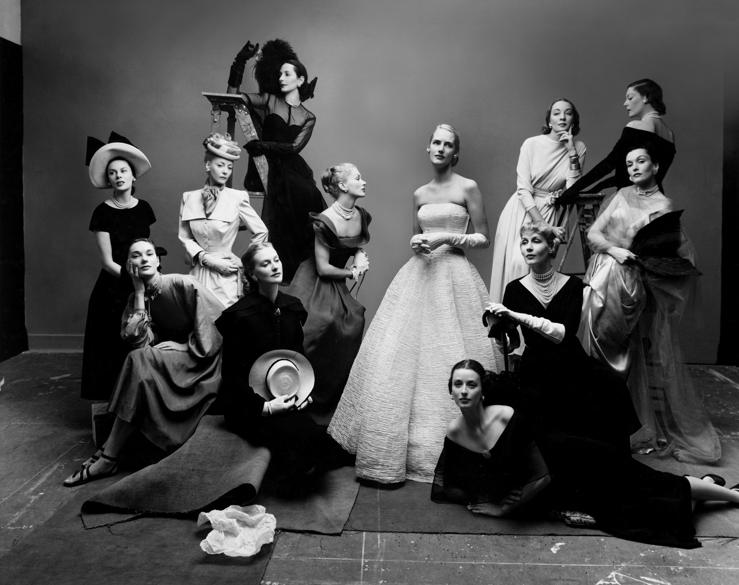 The Twelve Most Photographed Models, New York, 1947 © Condé Nast / The Irving Penn Foundation