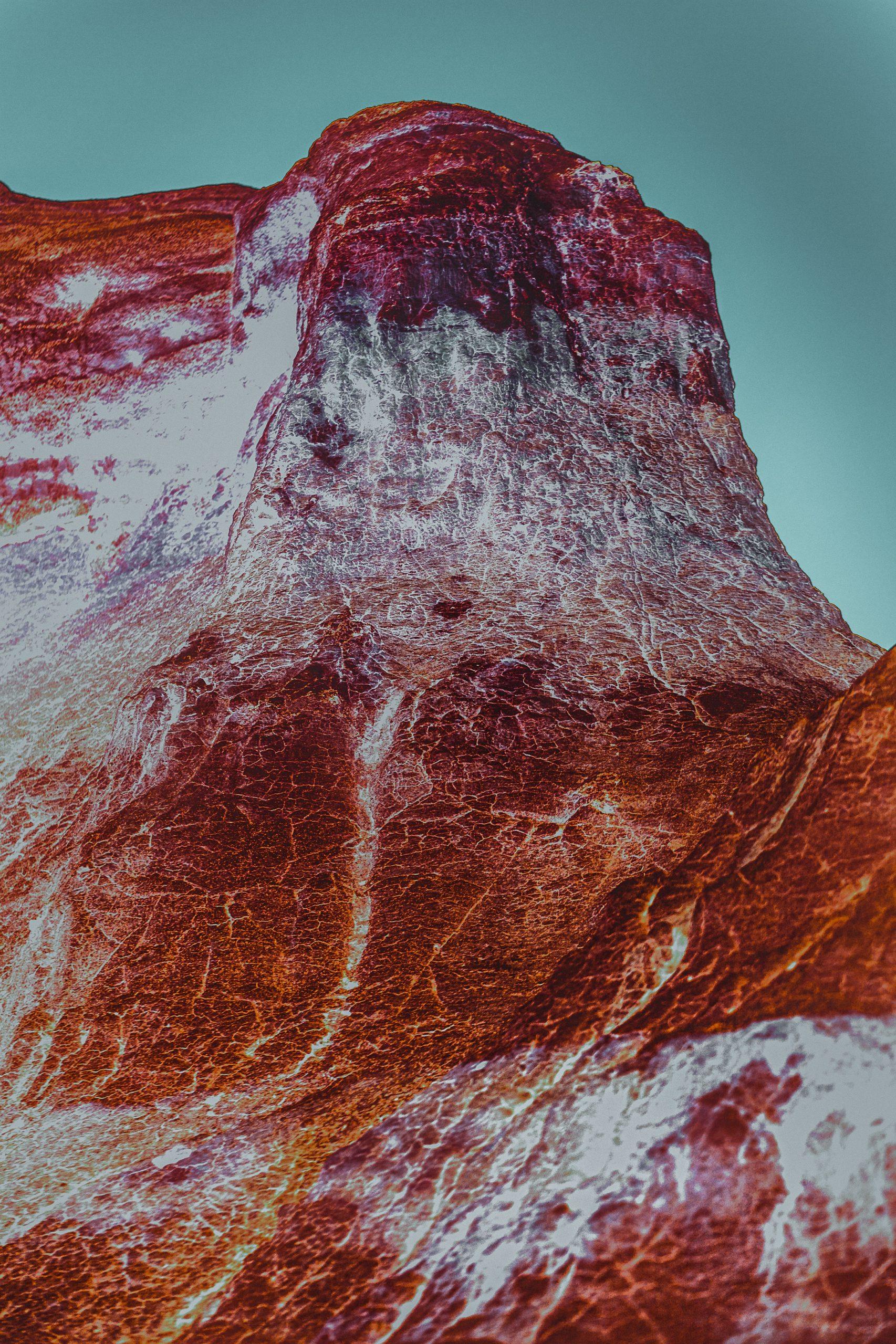 美国科罗拉多斯普林斯的油漆矿山的彩色风景照片