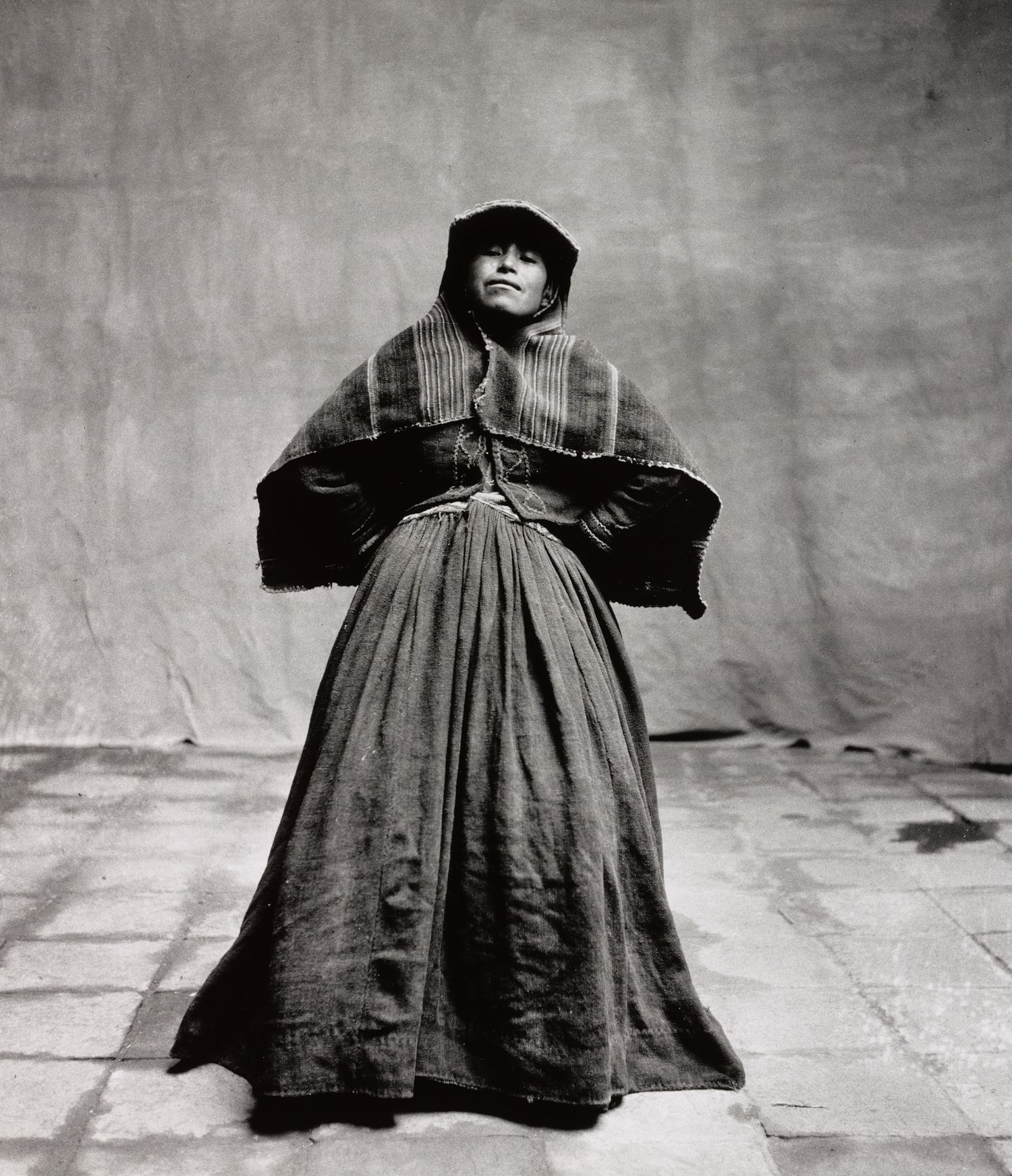 Black and white portrait of an elderly woman in Cuzco 1948 © The Irving Penn Foundation