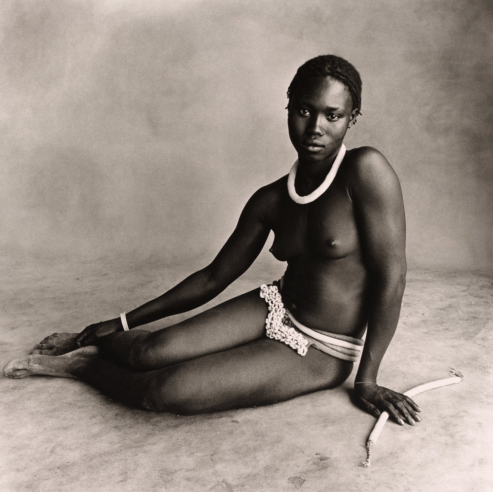 black and white nude portrait of a woman in Diamaré, Cameroon, 1969 The Irving Penn Foundation