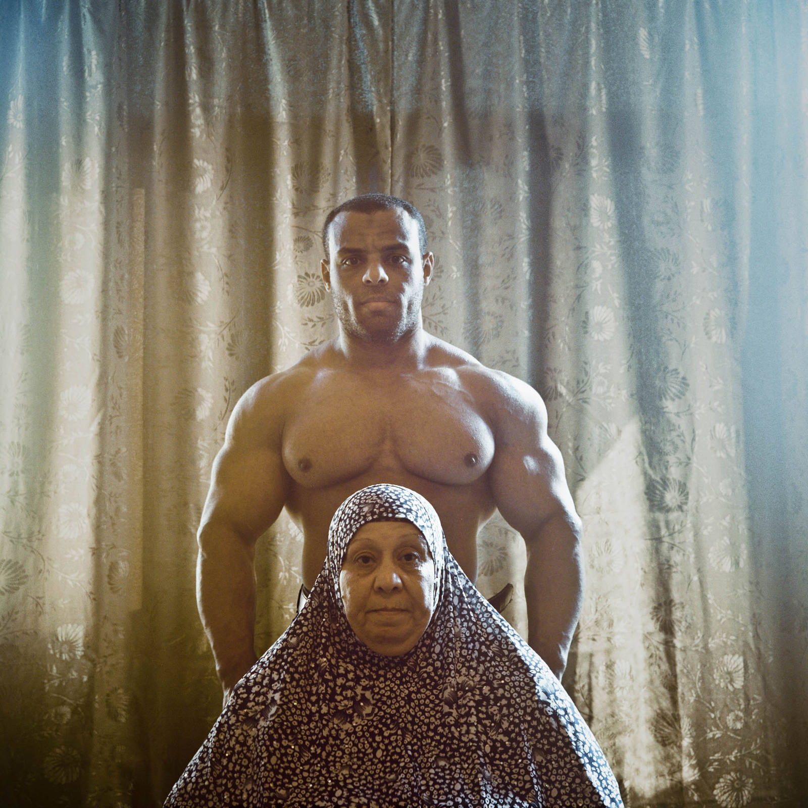 Oussam and his mother (from Mère et Fils) - Egypt, Alexandria, 2014 photograph by Denis Dailleux