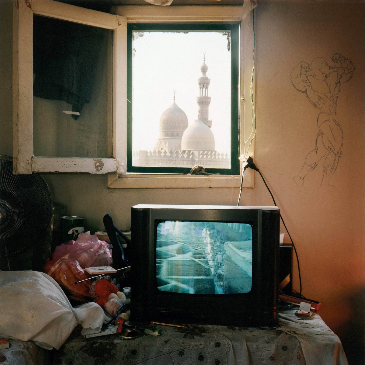 View on the Mosque Al-Rifai, Cairo, 2001 photograph by Denis Dailleux