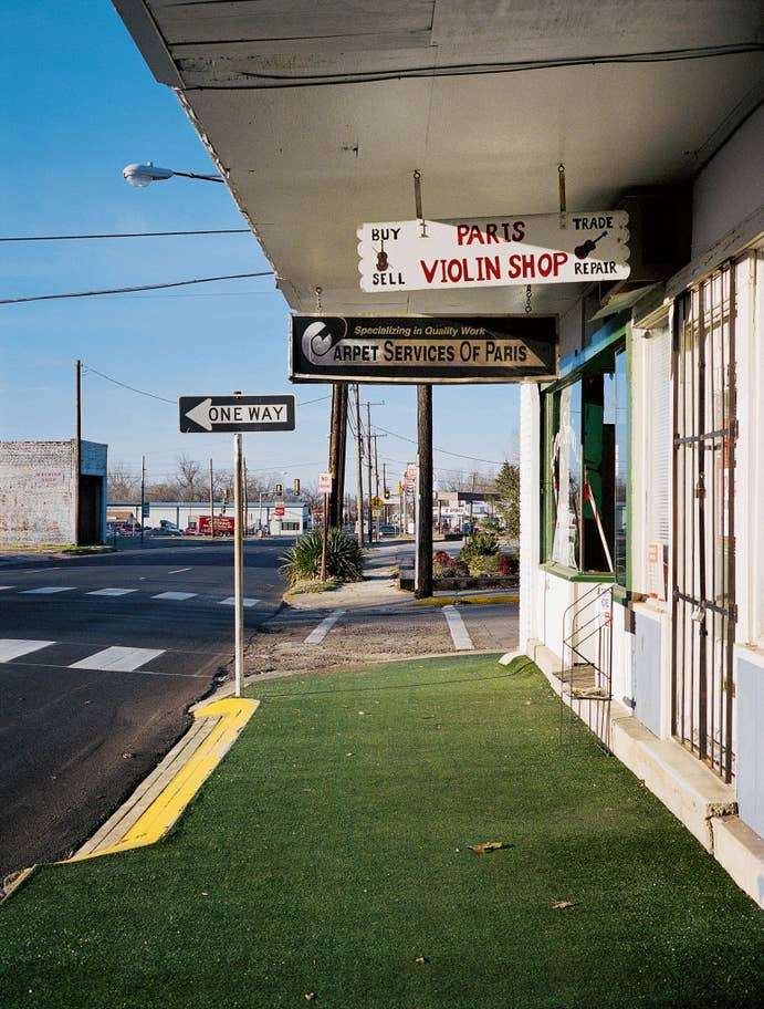 Violin Shop No.2', Paris, Texas, 2001 photograph by Wim Wenders