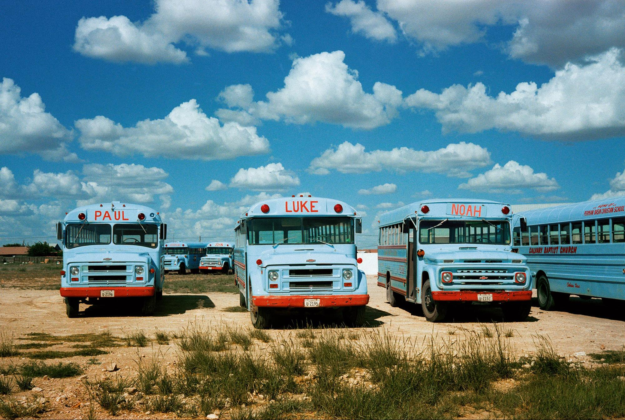 'Joshua and John (behind)', Odessa, Texas, 1983 photograph by Wim Wenders