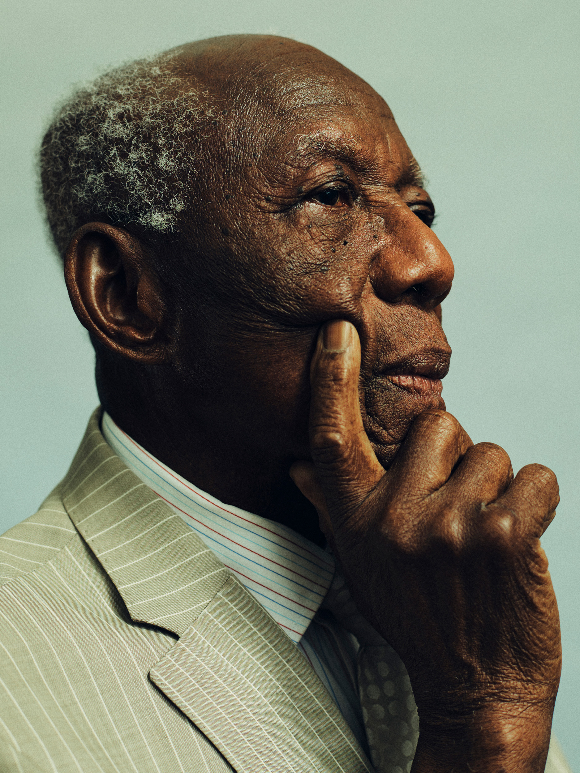 close up photograph of an elderly man