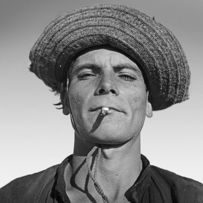 Black and white portrait photograph of a Brazilian man by Marcel Gautherot