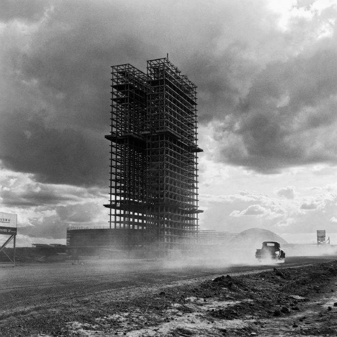 Black and white architectural photograph by Marcel Gautherot