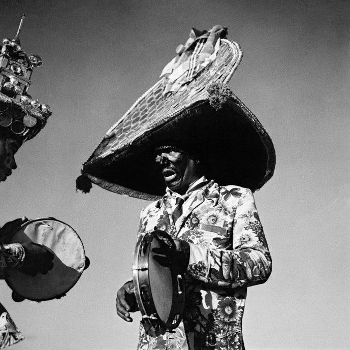 Portrait en noir et blanc d'un homme brésilien par Marcel Gautherot