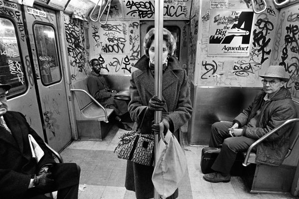 black and white picture of New york subway by Richard Sandler