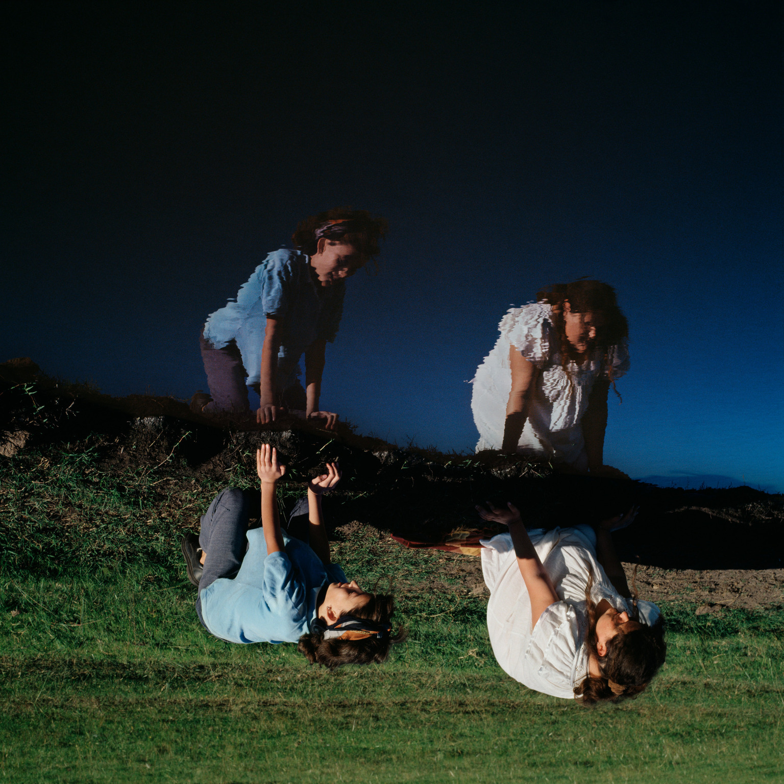 Color portrait of two girls by photographer Alessandra Sanguinetti - The Illusion of An Everlasting Summer