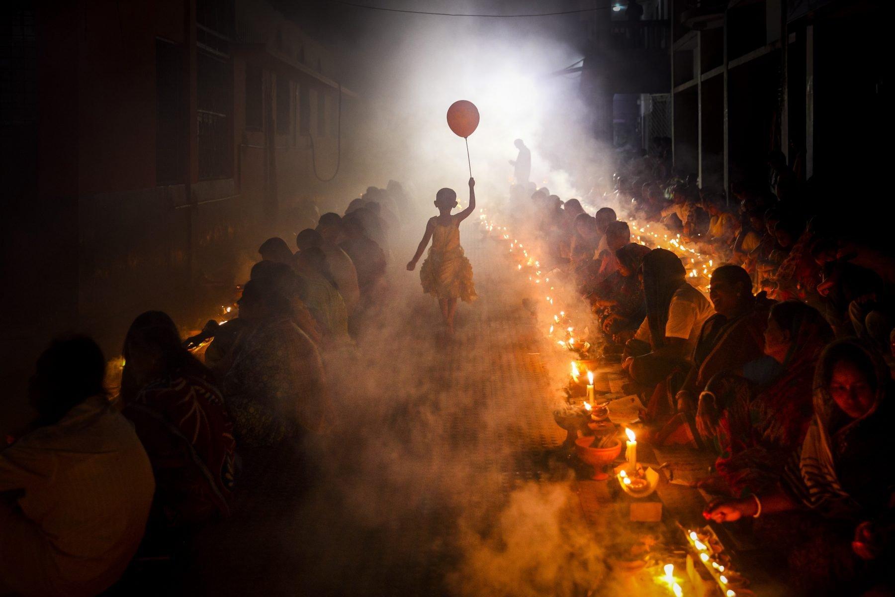 Color photo by Mou Aysha, Hindu celebration Bangladesh