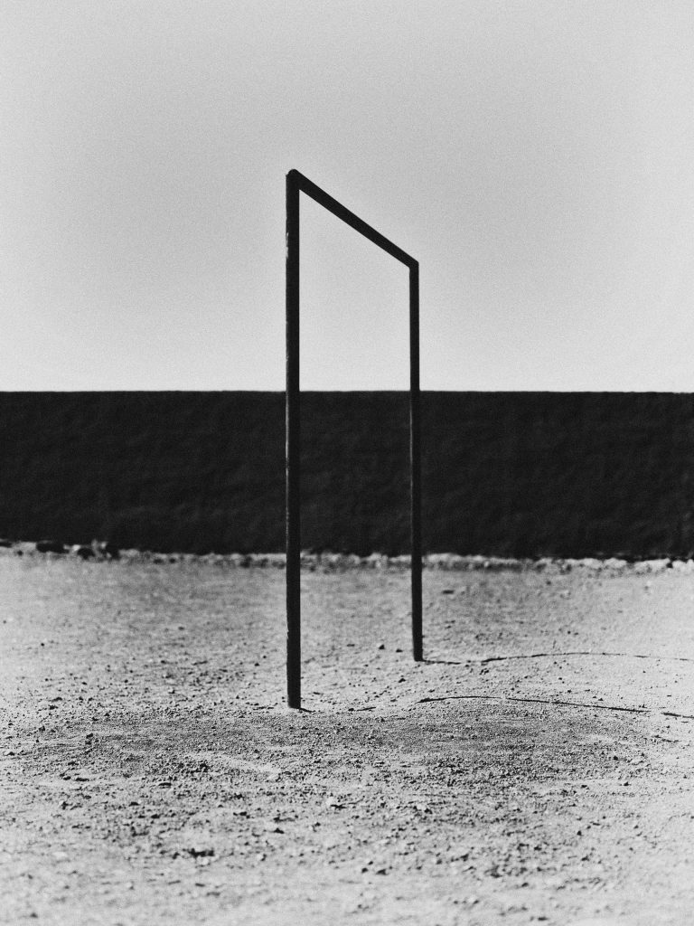 Black & White photography by Bastiaan Woudt, football, goal