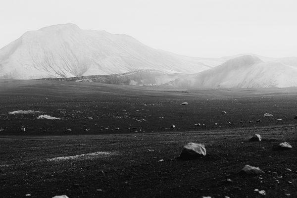 Black & white fotografía, paisaje, formato medio, Islandia