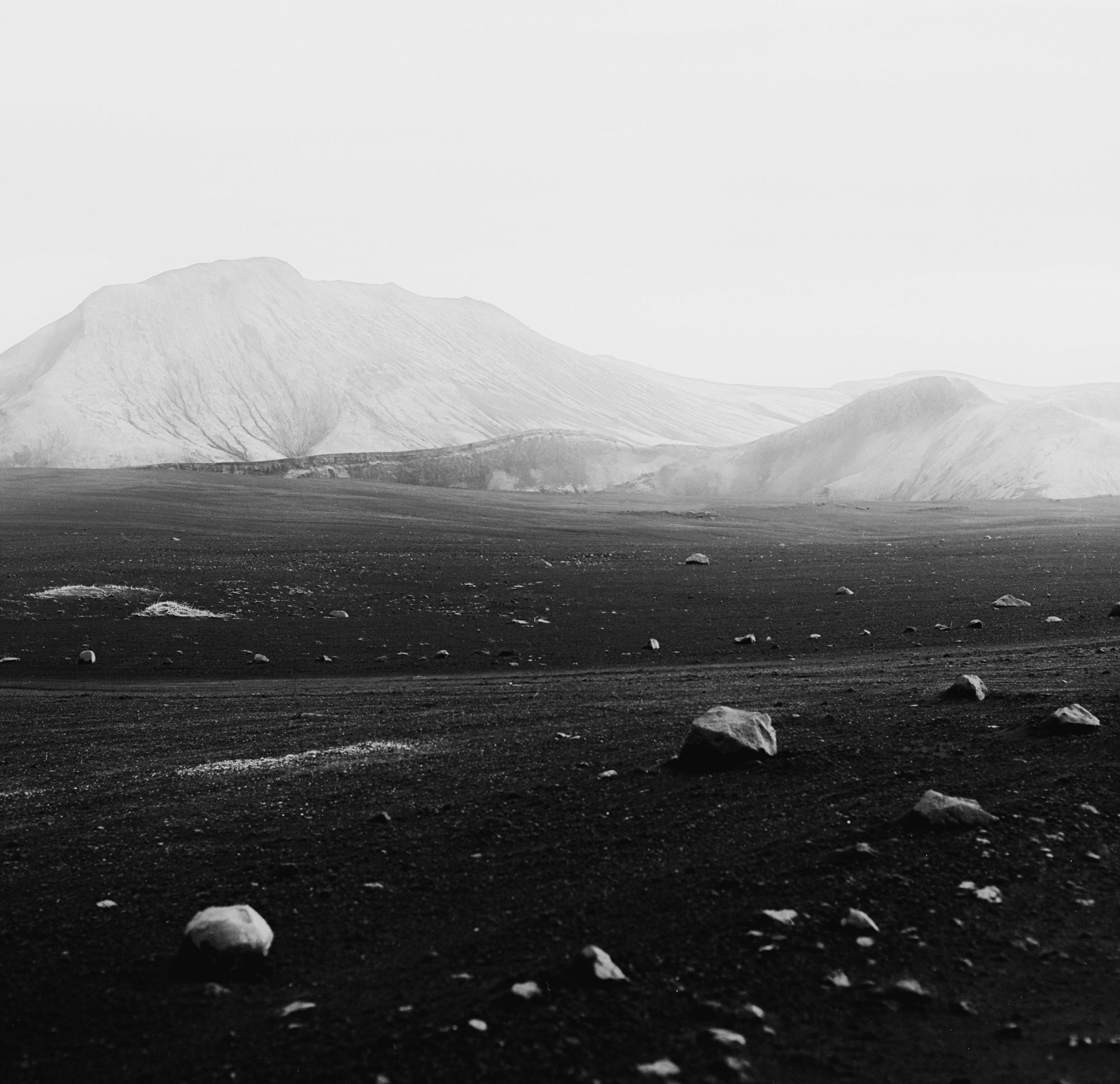 Black & white photograph, landscape, medium format, Iceland