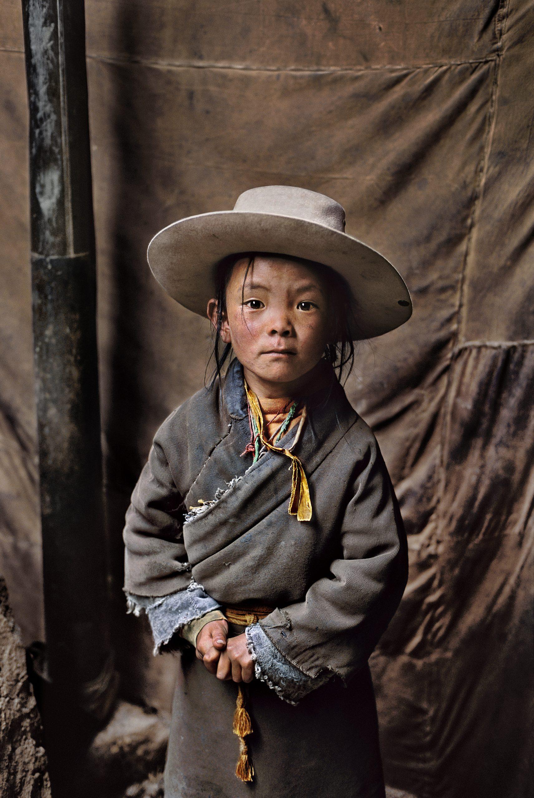 史蒂夫·麦卡里(Steve McCurry),西藏,孩子的画像