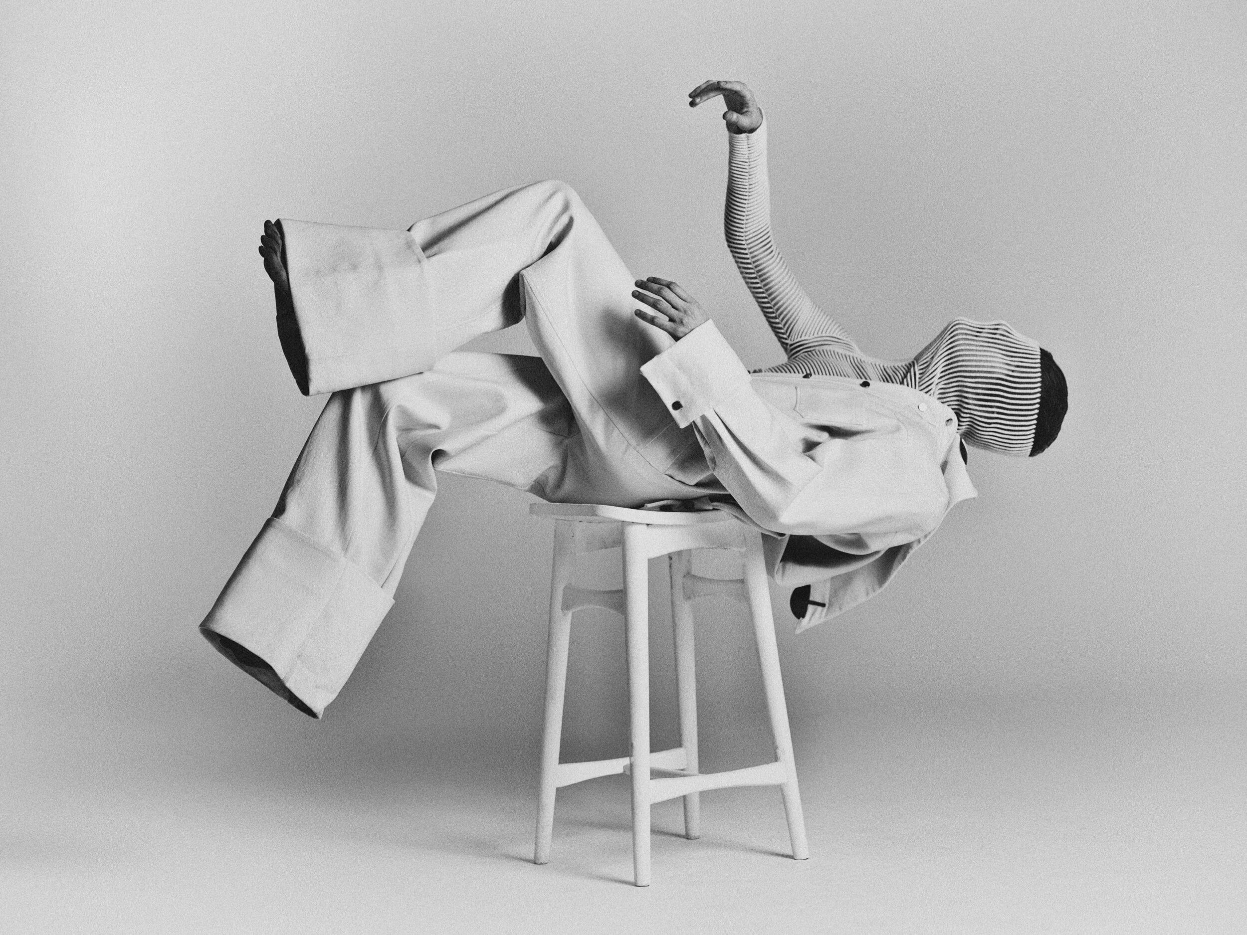 Fotografia di moda in bianco e nero di Bastiaan Woudt.