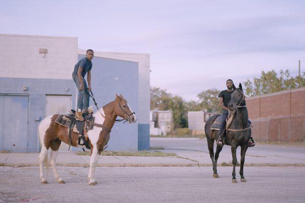 彩色,Cian Oba-Smith市骑手的电影摄影,肖像,费城
