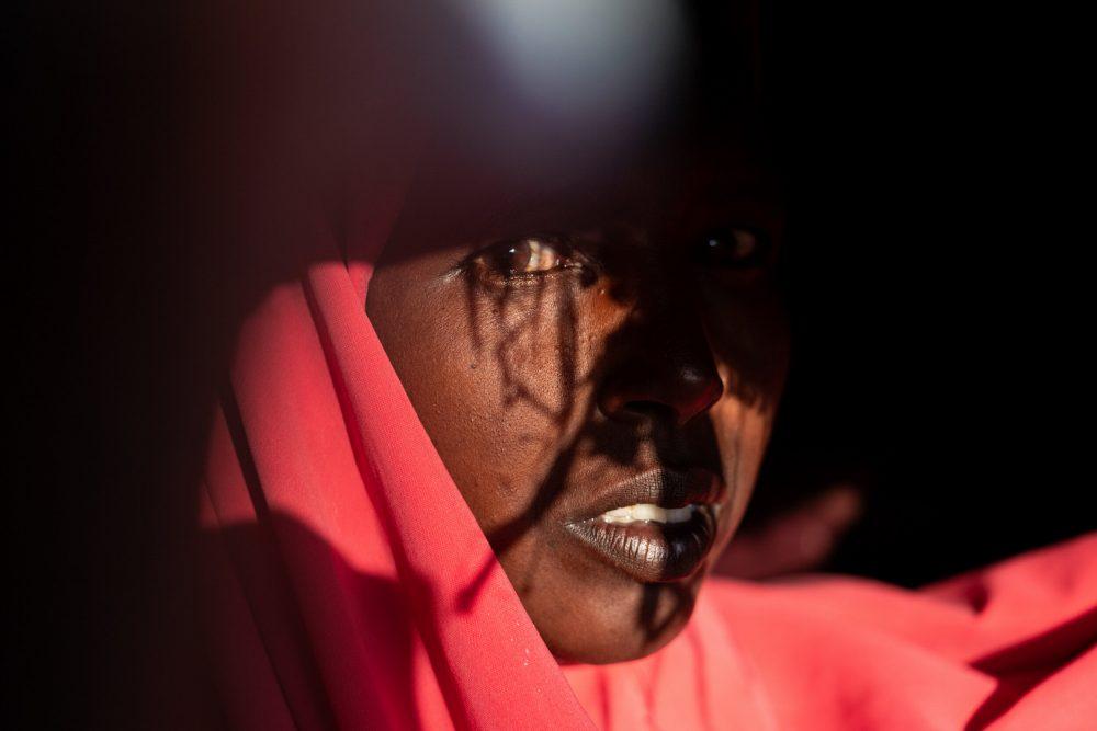 Portrait color photograph of a woman by Nichole Sobecki