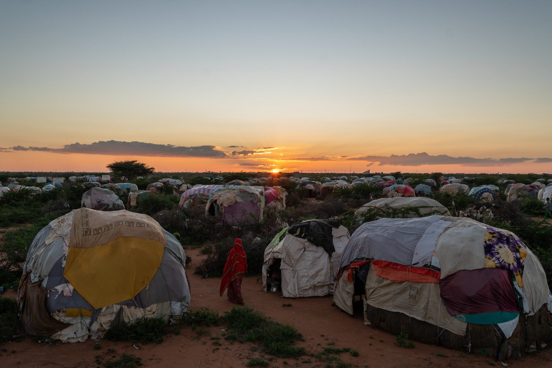 Color photograph by Nichole Sobecki, refugee, migrant, camp Somalia, Somaliland, tents