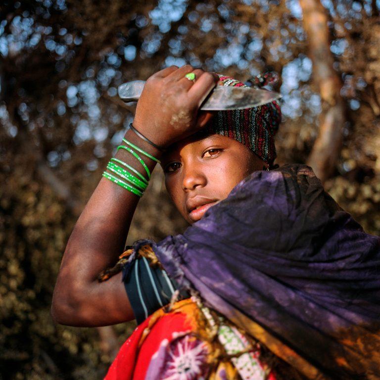 Photographie couleur, portrait, fille, Somalie, Nichole Sobecki