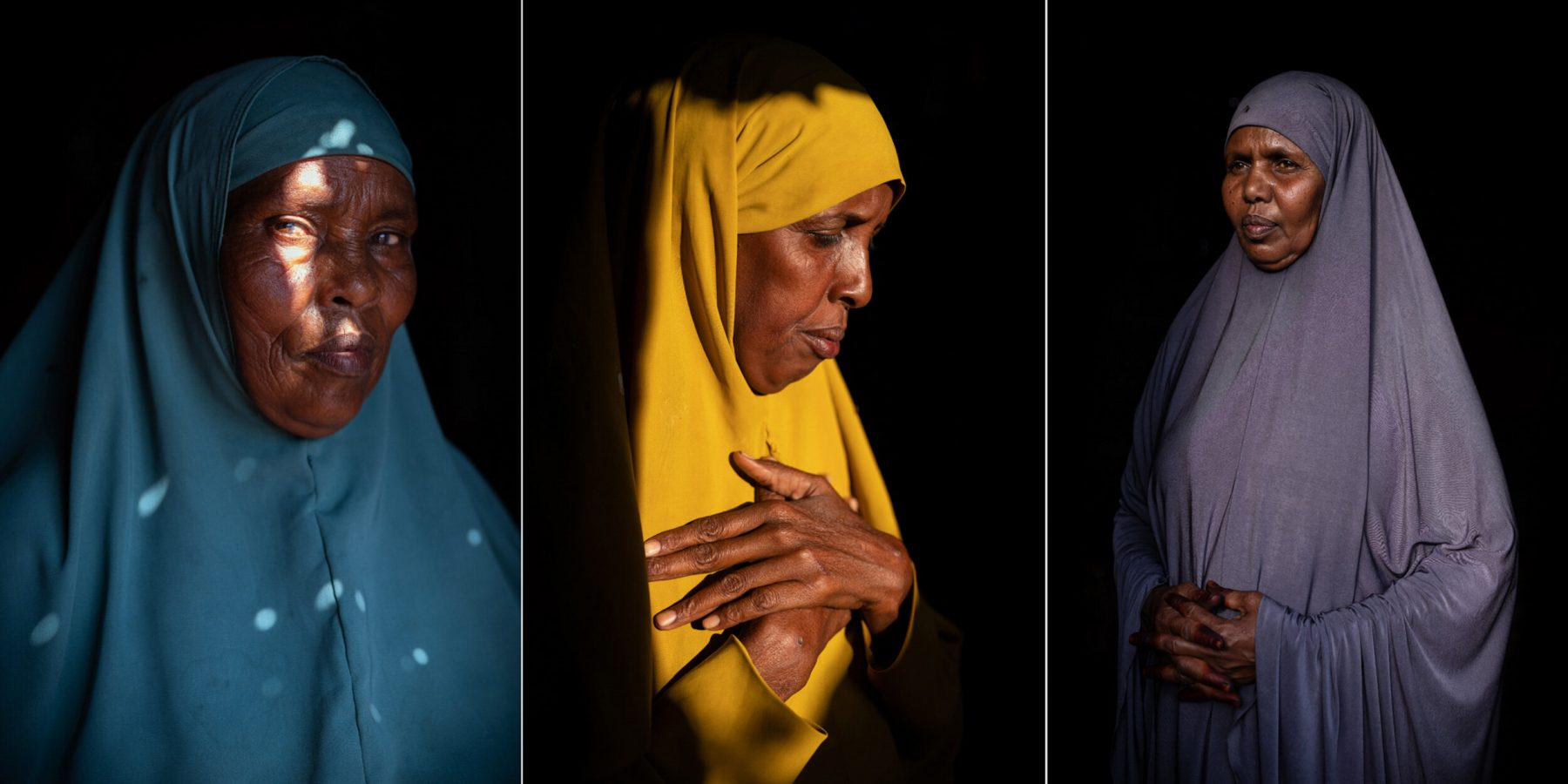 Portrait color photograph of 3 women by Nichole Sobecki, Somaliland, Somalia