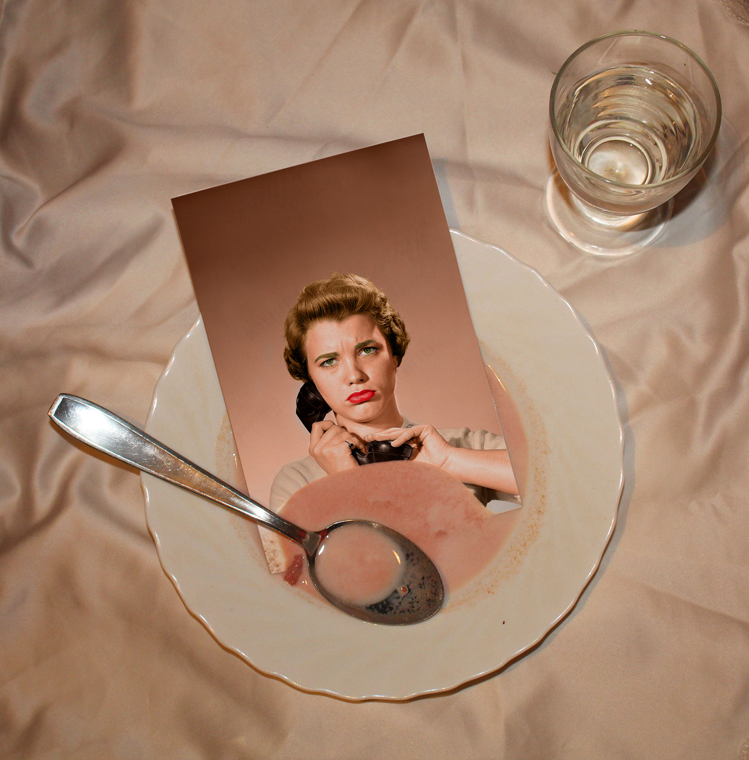 Open Call - conceptual color photograph of a photograph