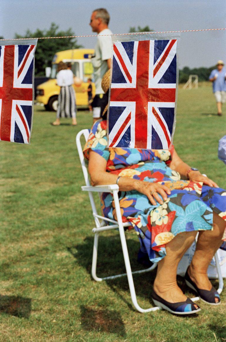 Martin Parr color photography, British flags, fair, England