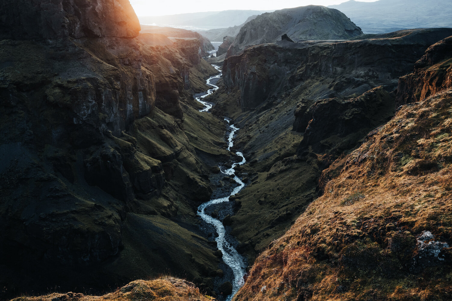 Hannes Becker landscape photo. Valley, river, mountains. Thorsmörk, Iceland.