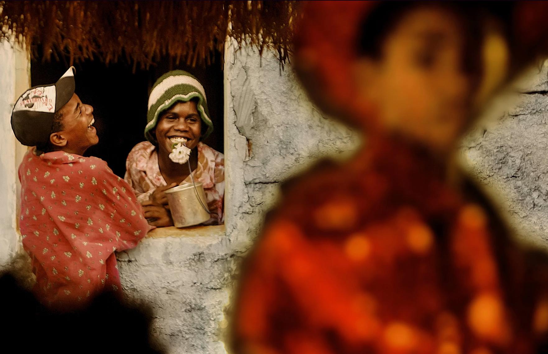 color photo by Alex Almeida from Brazil Tropical light. boys.