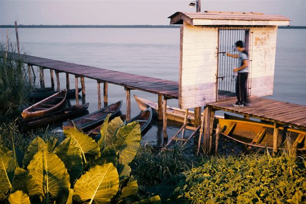 color photo by Alex Almeida from Brazil Tropical light. pier. jetty.