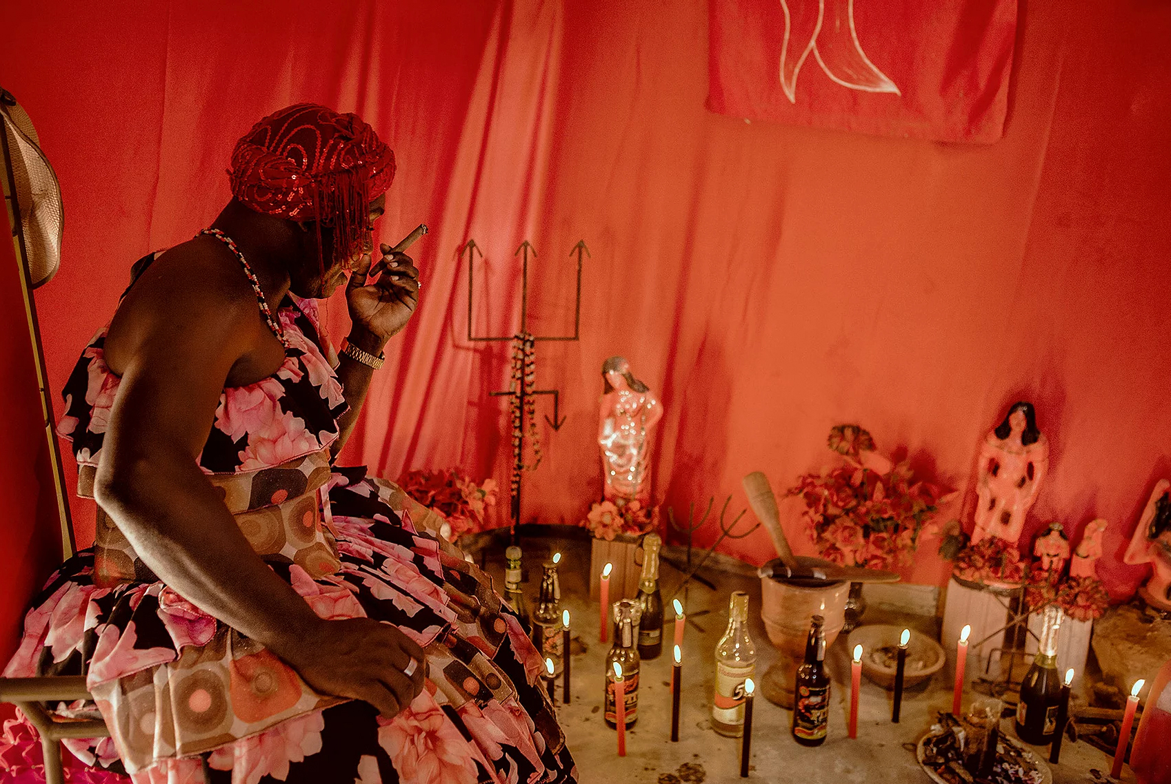 color photo by Alex Almeida from Brazil Tropical light. ceremony. ritual.