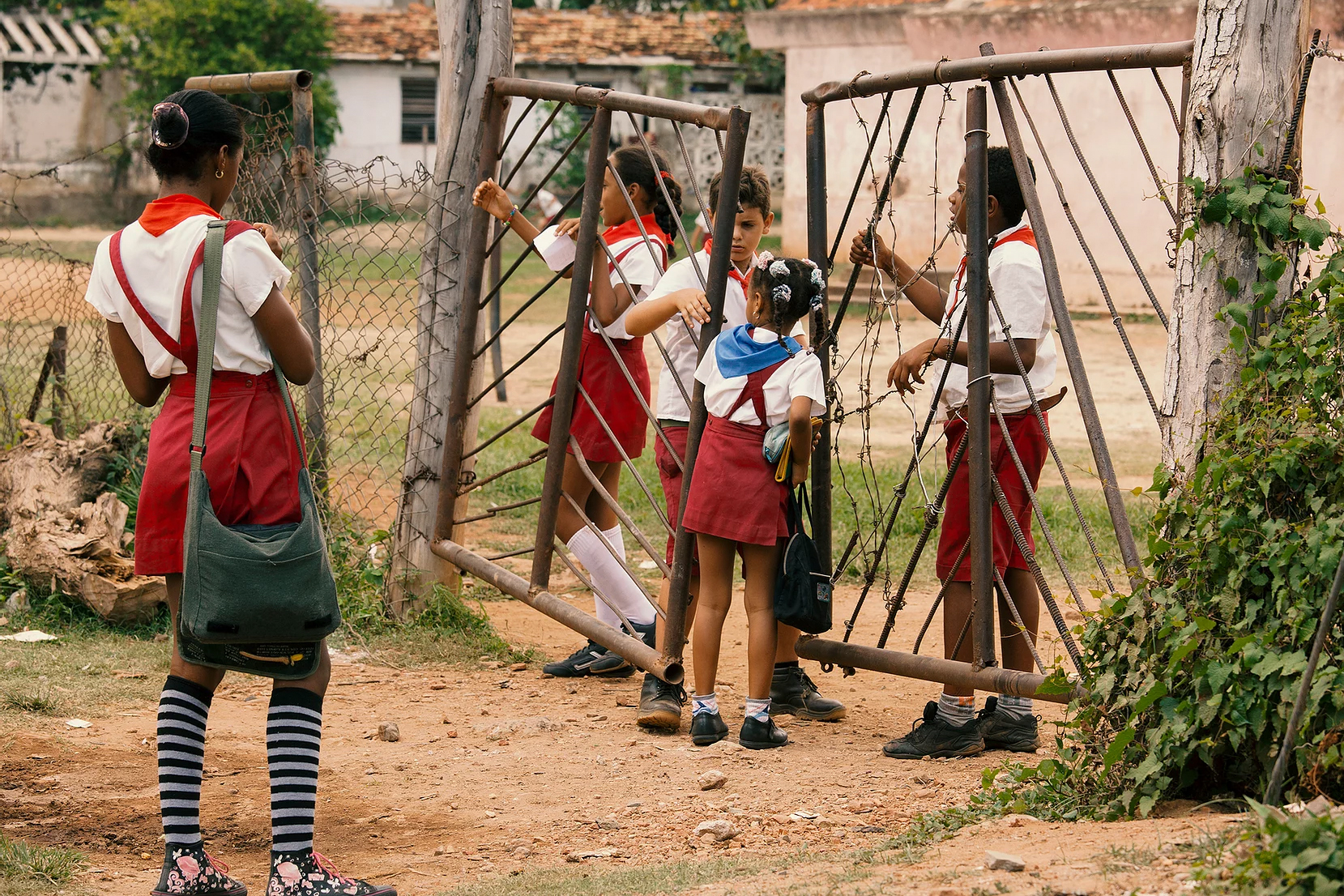 Color photo by Alex Almeida, school children,Cuba.
