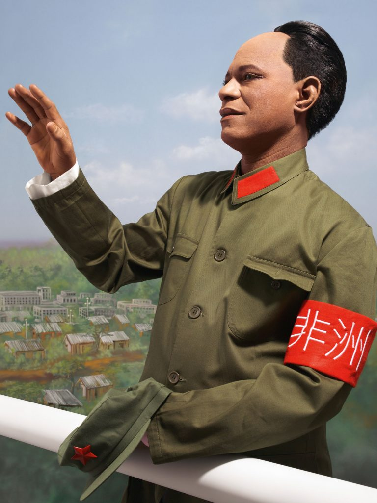 Color self portrait by Samuel Fosso as Chairman Mao, from the series Emperor, 2015