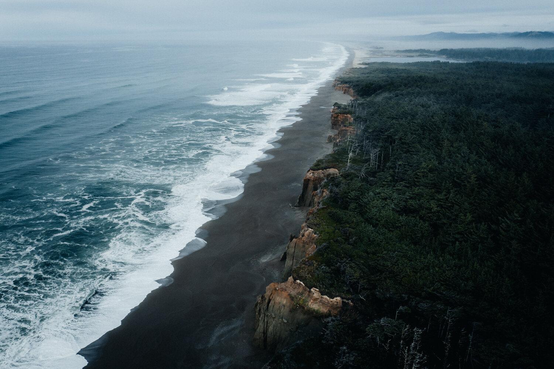 Photo couleur paysage par Hannes Becker, côte de l'Oregon, USA