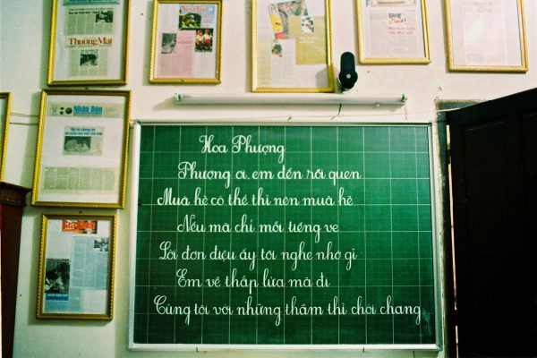 Color photo by Maika Elan from Inside Hanoi.blackboard.