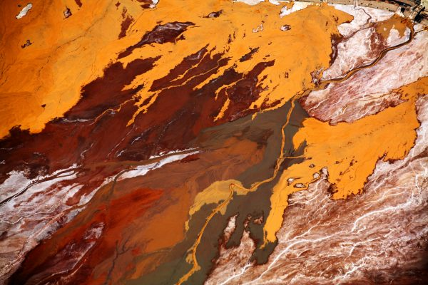 aerial abstract lanscape color photograph by Evan Petty