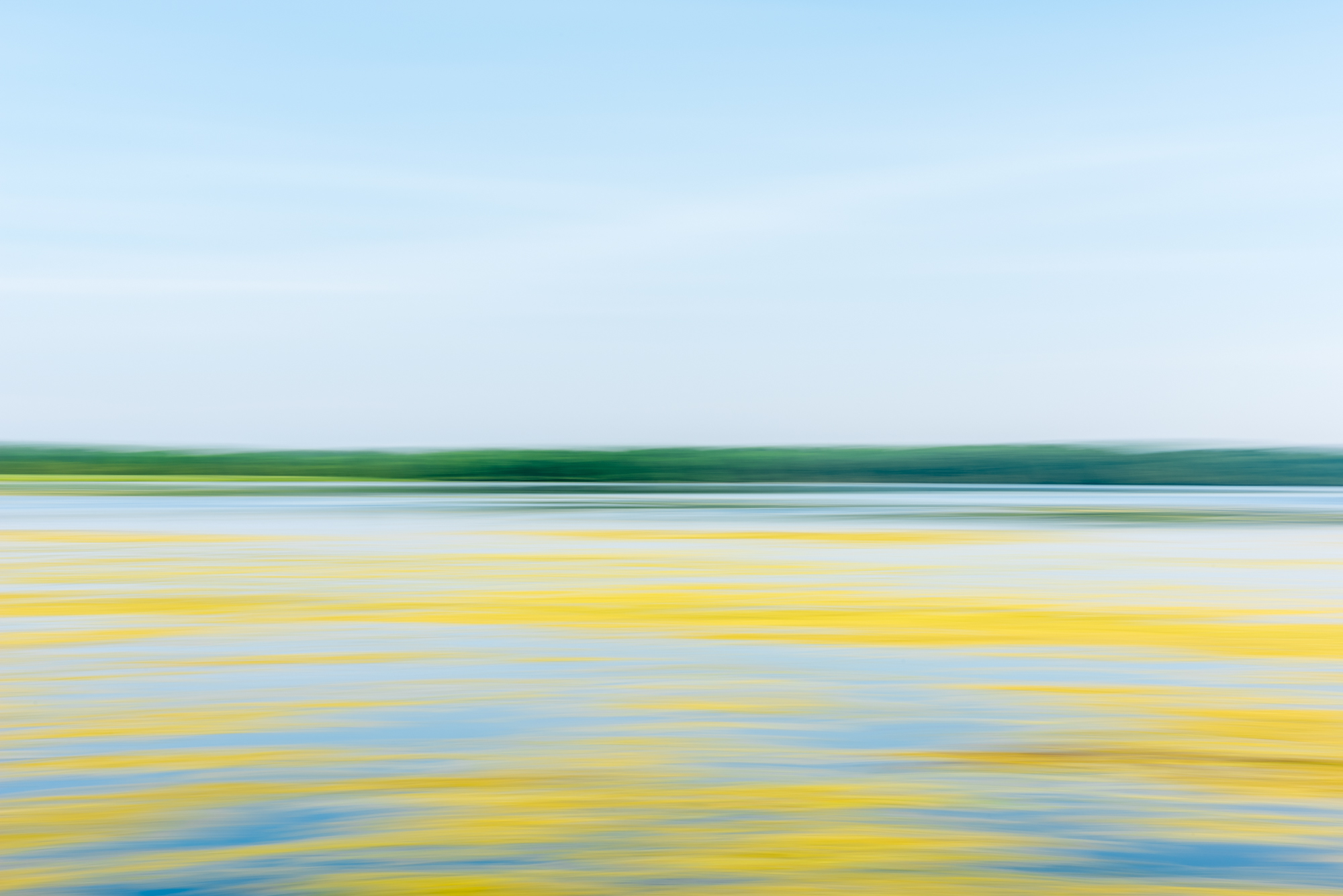 abstract lanscape color photograph of horizon and lake by Jim Kostecky