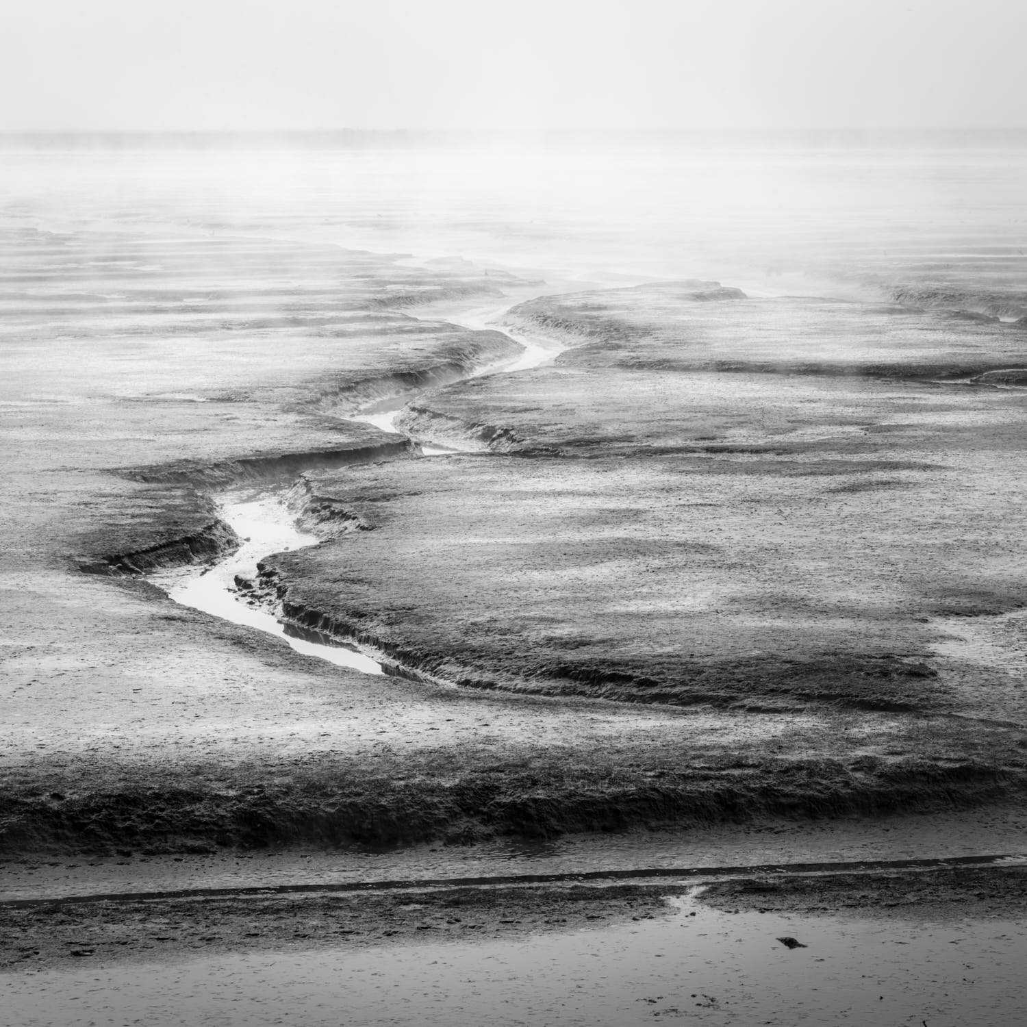 abstract black & white medium format film landscape photograph by Warren Agee