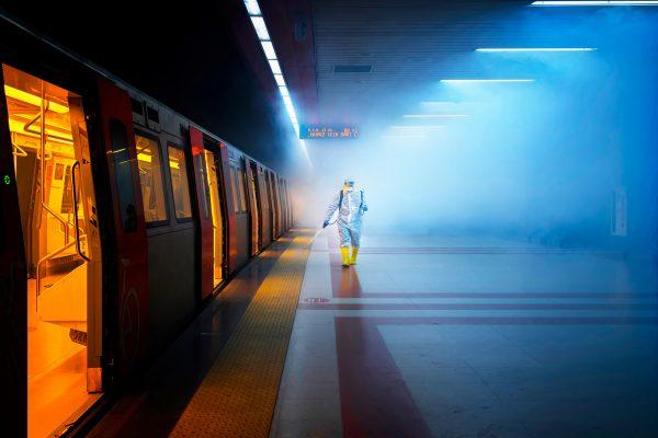 Photographie couleur d'art d'un train